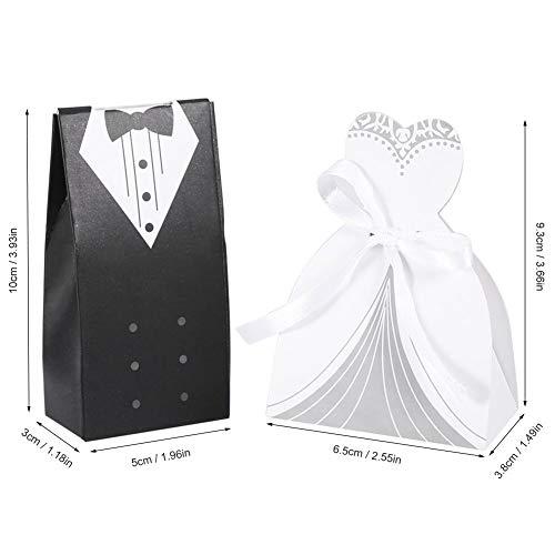 Gastgeschenke für Kleider, Smoking Braut und Großhandel, Karton, Süßigkeiten-Box, Hochzeit, Party, Geschenk-Dekoration, 100 Stück, 2# ()