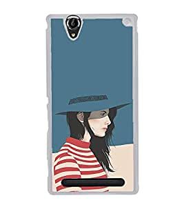 Fuson Designer Back Case Cover for Sony Xperia T2 Ultra :: Sony Xperia T2 Ultra Dual SIM D5322 :: Sony Xperia T2 Ultra XM50h (Beautiful Girl Stunning Pretty Lovely Cute)