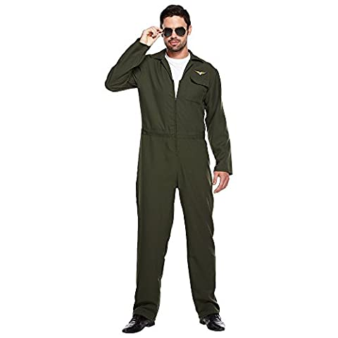 Aviator Flieger Kostüm (Grün) - One size