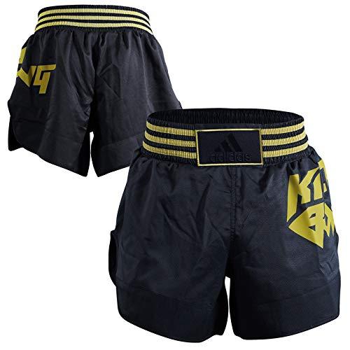 Adidas Kick Boxing - Pantalones Cortos, Todo el año, Unisex Adulto, Color Negro y Dorado, tamaño Large...
