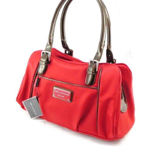 Borse a spalla rossa per donna, marchio francese Ted Lapidus
