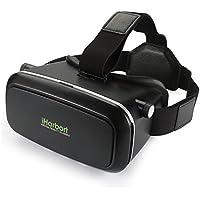 iHarbort ® Google Cardboard Universalle 3D VR Brille Virtuelle Realität Kopfhörer VR Gläser virtual reality headset für 4.0-6.0 Zoll Smartphones (iPhone 6 6 Plus, Samsung Galaxy S6 usw..) - schwarz