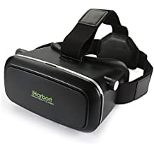 iHarbort® Google cartón casco 3D VR Glasses realidad virtual VR gafas con diadema ajustable de 4.0 a 6.0 pulgadas Smartphones (iPhone 6 6 Plus, Samsung Galaxy S7 etc.) - negro