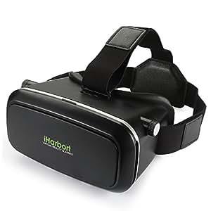 iHarbort ® Google Cardboard cuffia di 3D VR realtà virtuale VR Occhiali per 4.0 a 6.0 pollici smartphone (iPhone 4S 5S SE 6 6 Plus, Samsung Galaxy S6 ecc.) - nero