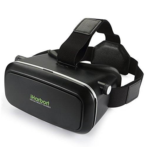 iHarbort® 3D VR Virtual Reality Headset VR Glasses 3D Movies and Games for 4.7 to 6.0 inch Smartphones ( iPhone 6 6 Plus, Samsung Galaxy S6 etc.) - black