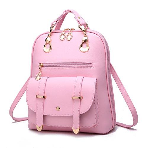 Zaino Dello Shopping Dello Zaino Di Viaggio Di Modo Dello Zaino Dello Studente Impermeabile Dello Studente,Pink Pink