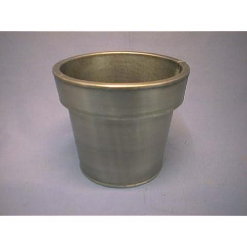 Vaso rotondo KON. bordo largo argento grigio 030* 23cm