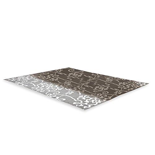 Loberon Teppich Duma, PVC, H/B ca. 160/230 cm, grau/weiß