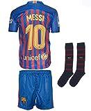 Barcelona Trikot Kinder Messi #10 2018/19 Heim Trikot Shorts mit Socken Jugend...