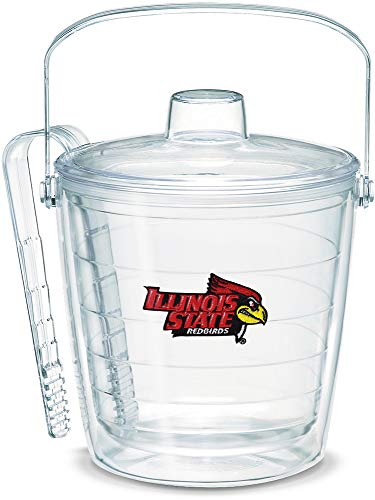 Tervis 1059200 Illinois State Redbirds Logo Ice Bucket with Emblem and Clear Lid 87oz Ice Bucket, Clear