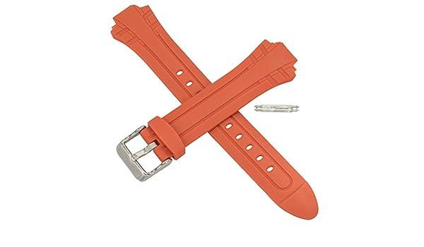 Casio 10257864 Bracelet de montre pour MTR 102 MTR‿102 Rouge  SJKMj