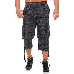 Finchman. Pantalón estilo pirata para hombre, color midnight.