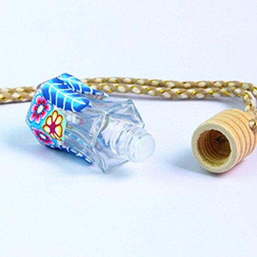 shyyymaoyi Mini-Lufterfrischer im Cartoon-Design, Leere Parfümflasche, zum Aufhängen Multi -