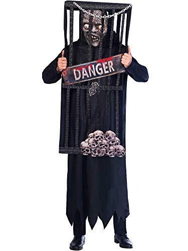 Mann Im Käfig Kostüm - amscan Männer-Kostüm für Herren, mit Käfig-Reaper,