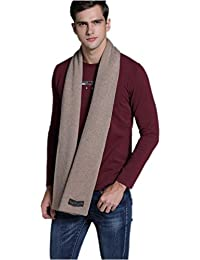 Prettystern - heavy weight extra volume two-ply warm cuddly cashmere wool plain uni-colour scarf