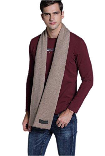 Prettystern - sciarpa lana cashmere pesante extra volume due strati monocolore caldo morbido - beige taupe