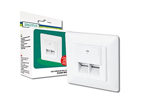 DIGITUS Professional - Toma de pared red Cat 6 - DN-9005-N - 1 Gbit - Montaje empotrable - Instalación de cable horizontal