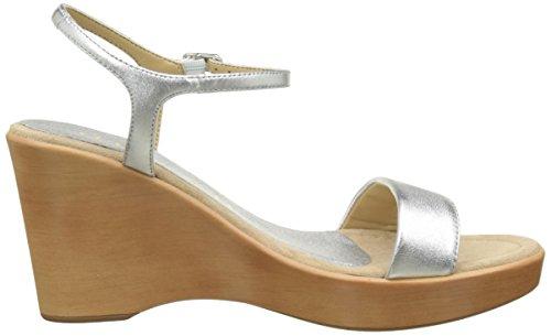Unisa Damen Rita_17_lmt Offene Sandalen mit Keilabsatz Silber (Silver)