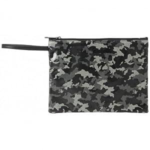 MOOS- Neceser Plano Grande Color Negro, Gris, 28 cm (SAFTA 861637689)
