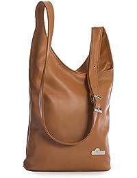 47dc07c7139 LiaTalia - Largo bolso hobo crossbody para mujer de piel suave con correa  de hombro ajustable