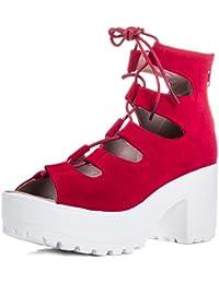 Suchergebnis auf Amazon.de für  rote 4 - 37   Sandalen   Damen ... 373b6748be
