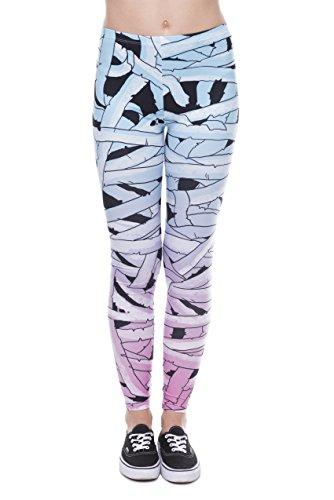 Bunte Damen Leggings OneSize XS-XL Mädchen Leggins mit verschiedenen Muster bedruckt | Tights Pants mit hohem Hüft-bund auch als...