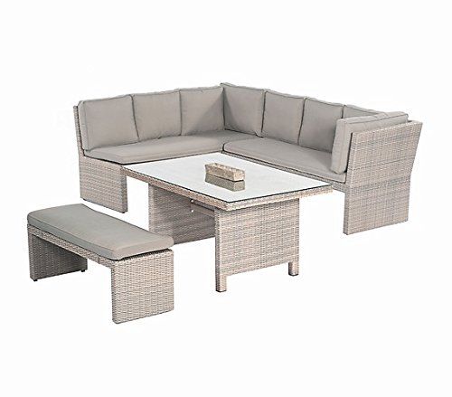 Sunny Smart Gartenmöbel Lounge Gruppe Brasil Polyrattan antik-grau
