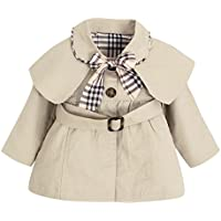 CHIC-CHIC Toddler Baby Girls Bowknot Trench Coat with Belt Princess Autumn Windbreaker Jacket Outwear