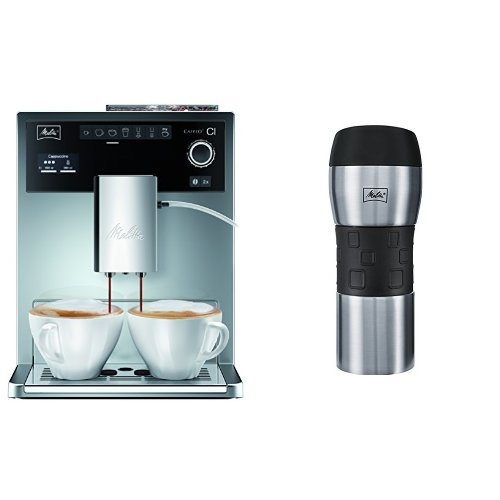 Melitta E 970-306 Kaffeevollautomat Caffeo CI One-touch Cappuccino + Melitta 206056 IsolierTrinkbecher