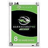 Seagate BarraCuda Pro 8 TB interne Performance Festplatte (8,89 cm (3,5 Zoll), SATA, 7200rpm, 256 MB Cache, SATA 6Gb/s, inkl. Datenrettungservice)