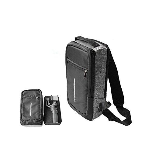 LaDicha DJI Osmo Mobile 2 Kardan Rucksack Brusttasche Case Große Kapazität für Stativ Base Extension Stick Zwei Mobile