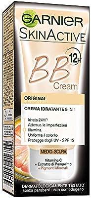 Garnier BB Cream Original, Crema Idratante Tutto in 1, Arricchita con Pigmenti Minerali e Vitamina C, Medio-sc