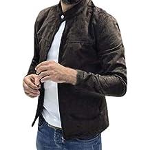 LIN Hommes Trench-Coat Printemps Automne Slim Fit À Manches Longues De Mode 0b5e2deb8ba8