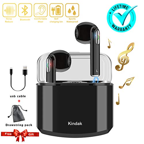 Inalámbricos Auriculares Bluetooth,Wireless In-Ear Cascos Earbuds con Micrófonos Manos Libres Headset, Mini Headphone Earpods Compatible Apple iOS Android Samsung iPhone X 6 7 8S