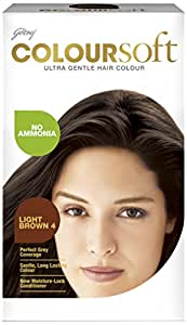 Godrej Coloursoft Hair Colour, Light Brown, 80ml+24g
