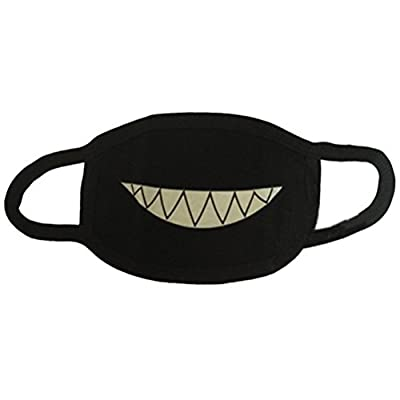 WINOMO Baumwolle Mundmaske Mundschutz Zähne Leuchtende Antistaub