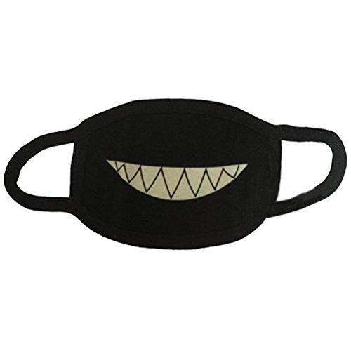 OULII Baumwolle-Anti-Staub-Mund Gesicht Maske Zähne leuchtende Anime Valentine Tag Halloween Geschenk Cosplay für Männer und Frauen, jungen und - Halloween De Macht Anime
