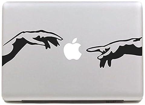 Vati Feuilles Art amovible peau Creative main et Apple sticker noir pour Apple Macbook Pro Air Mac 13