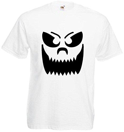 Große Zähne Smiley Kürbis Gesicht Halloween T Shirt Comedy Top Fancy Dress Scary Tee Gr. M, Schwarz - - Scary Smiley Halloween
