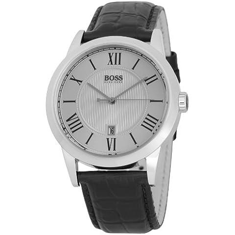 Hugo Boss 1512439 - Reloj analógico de cuarzo para hombre con correa de piel, color negro