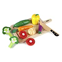 Tidlo Wooden Cutting Vegetables Set