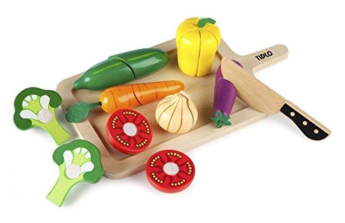 Tidlo Wooden Cutting Vegetables Set