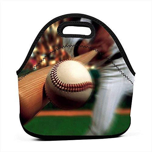 Cooler Bag,Baseball Batter Hitter Lunch Bag Portable Bento Bag Teenagers Student Adult for School