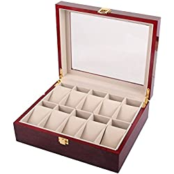 Watch display box - TOOGOO(R) 10 Slot Wood Watch display box