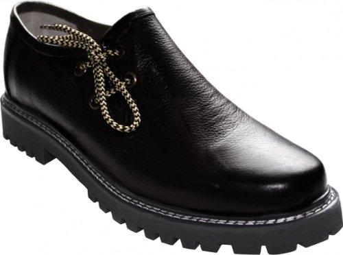 German Wear, Haferlschuhe Trachtenschuhe Original-Handmachart Glattleder, Schuhgröße:45, Farbe:Schwarz