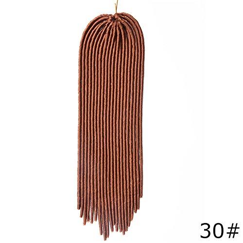 2017 NEUF imitation Locs Lo8loc91025 Crochet Cheveux tressage 45,7 cm Havana Mambo Twist dreadlocks tresses 100 g/PC Cheveux synthétiques Dreads