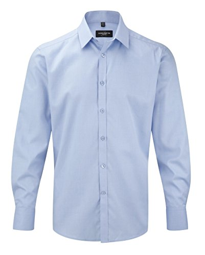 Z962 herringbone chemise à manches longues Bleu - Bleu clair
