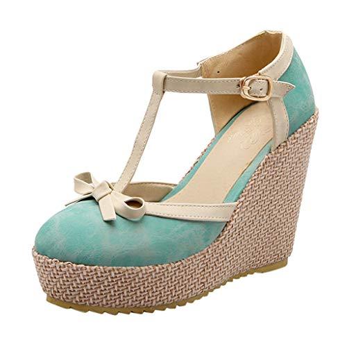 Luckycat Chic Sandalias Mujer Plataforma Cuña Verano 2020 Zapatos Mujer Tacon Altas Elegantes Alpargatas...
