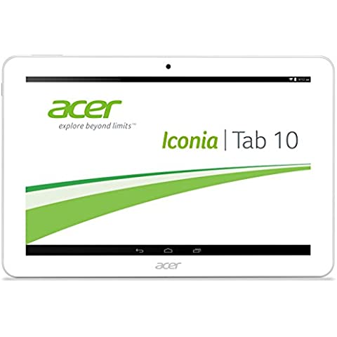 Acer Iconia Tab 10 (A3-A20HD) 25,65 cm (10,1 Zoll) Tablet-PC (MTK MT8127 Quad Core 1,3GHz, 1GB RAM, 32GB eMMC, Android KitKat 4.4, HD Display mit IPS Technologie, Touchscreen)