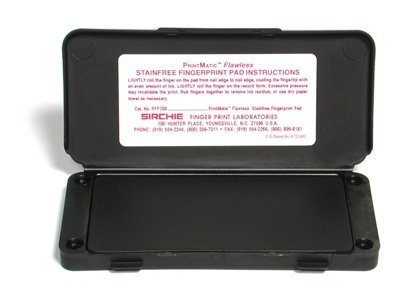 Sirchie Professionel Fingerabdruck Stempelkissen von Größe: 15,8 x 7,6 x 1,2 cm und Gewicht: 88,7 ml